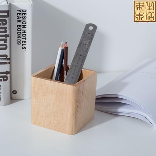 进口枫木笔筒